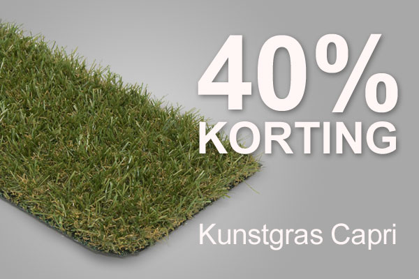 Opruiming!! 40% Korting Op Kunstgras Capri