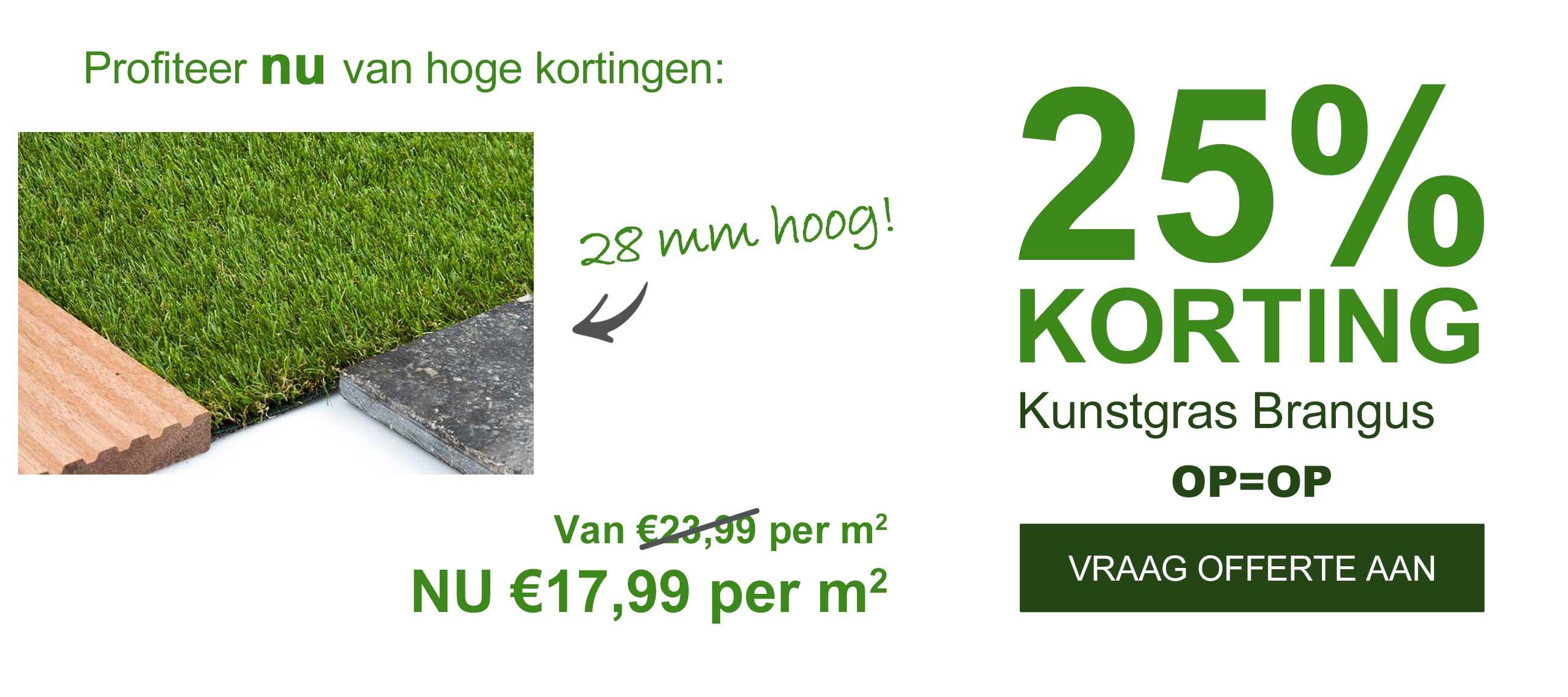 Opruiming!! 25% Korting Op Kunstgras Brangus