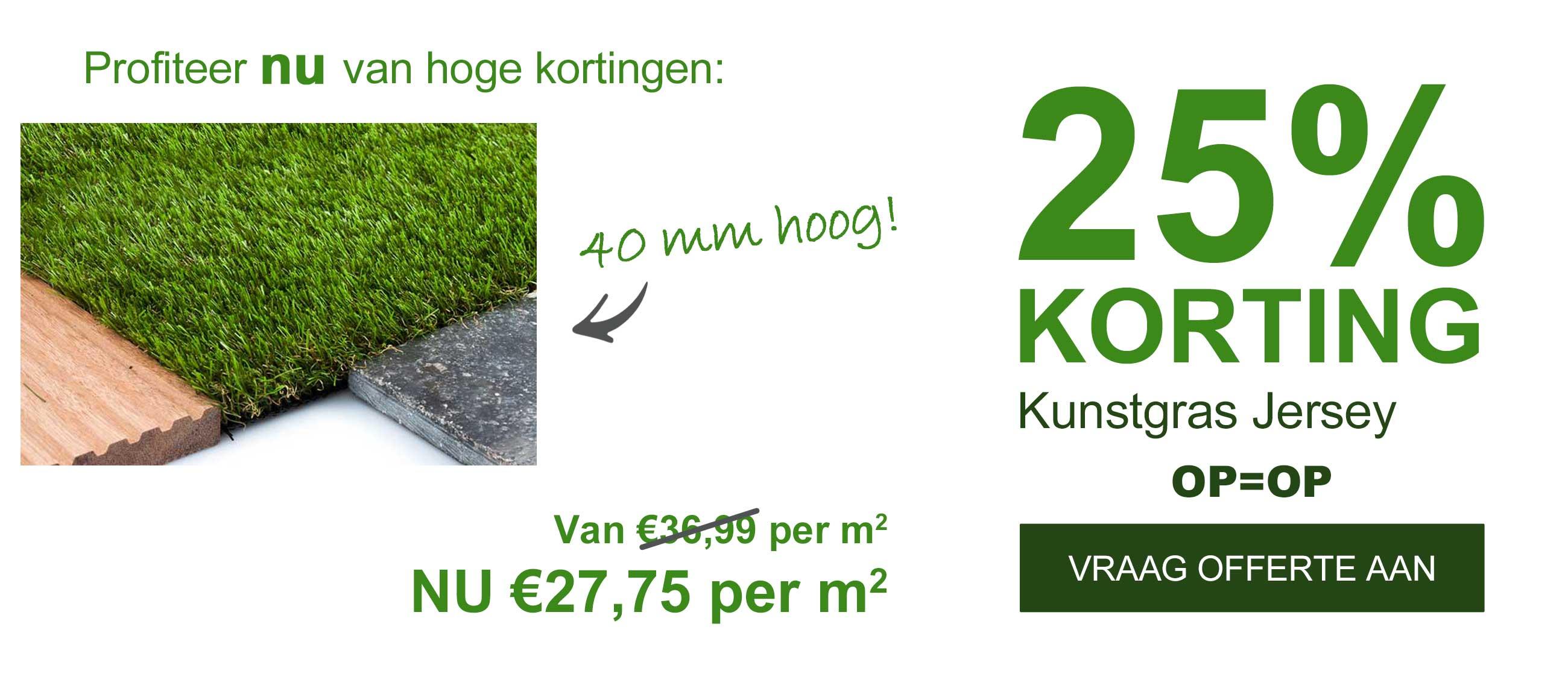Opruiming!! 25% Korting Op Kunstgras Jersey